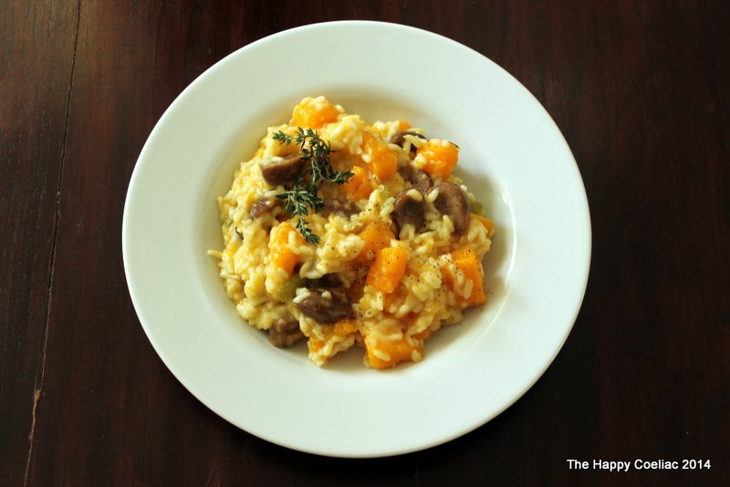 butternut squash and chestnut risotto | The Happy Coeliac