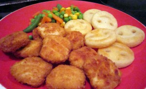 chicken nuggets plate