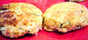 quinoa and chive cakes