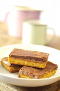 Choc caramel shortbread