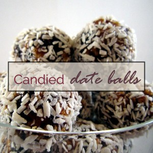 Candied date balls