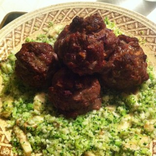 meatballs and cauliflower rice