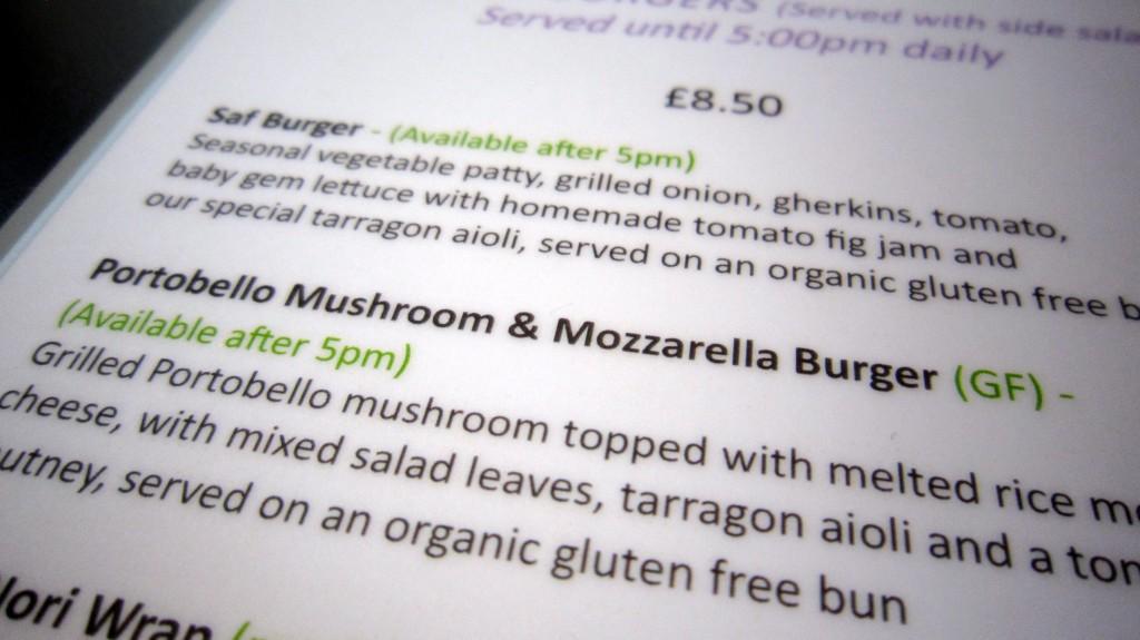 saf menu