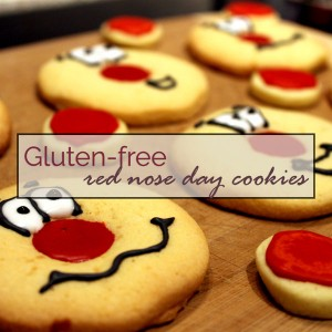 Gluten-free 'Red Nose Day' sugar cookies