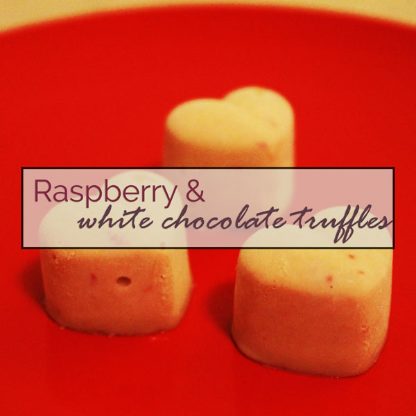 Valentine's Day Raspberry & White Chocolate Truffles