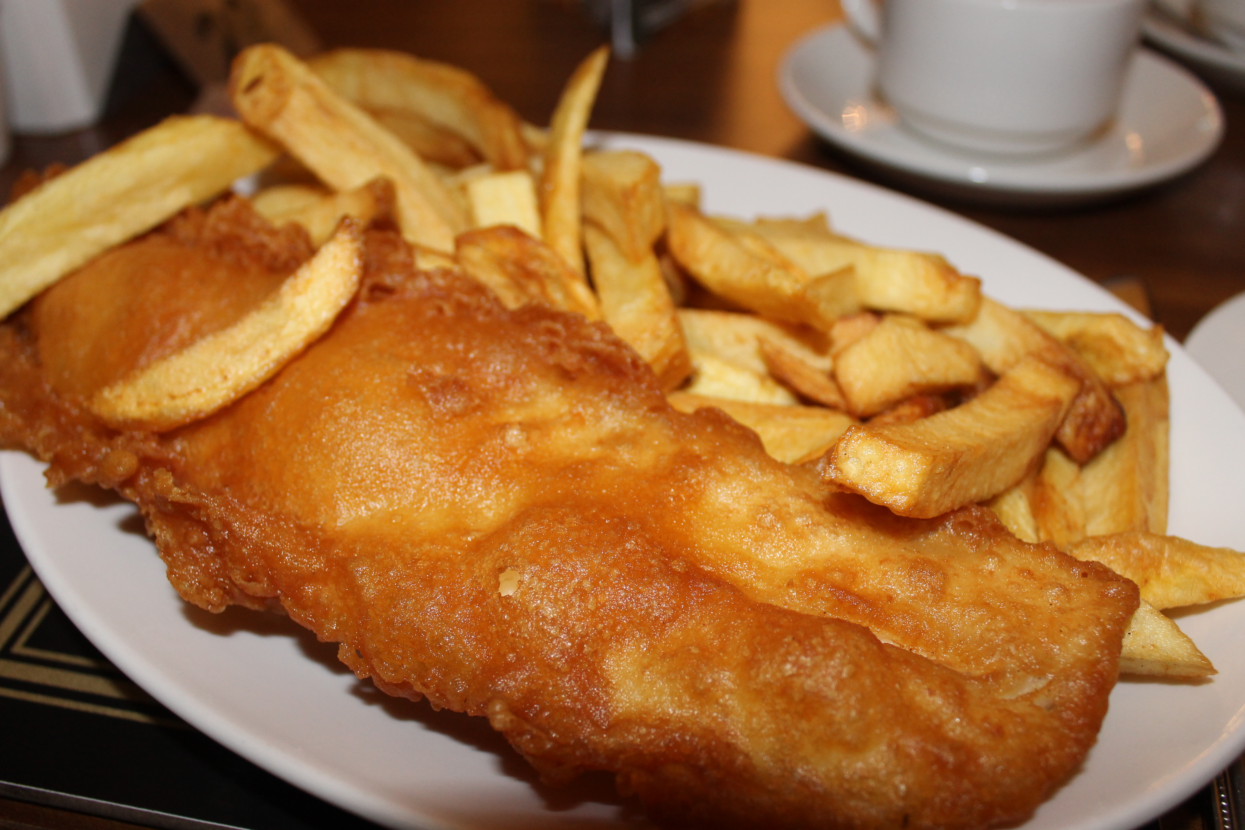Restaurant review the wetherby whaler guiseley the for Gluten free fish and chips