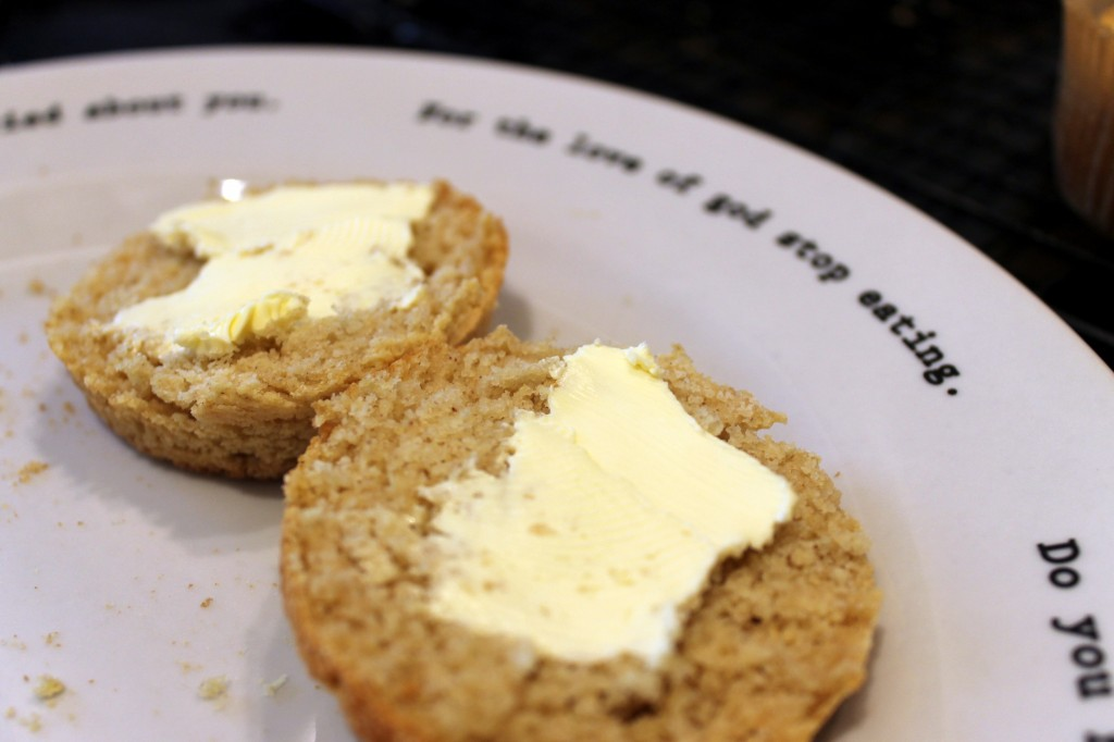 Gluten-free cornbread with butter