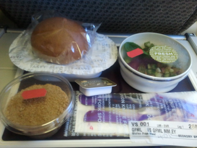 outbound flight gluten-free meal virgin atlantic
