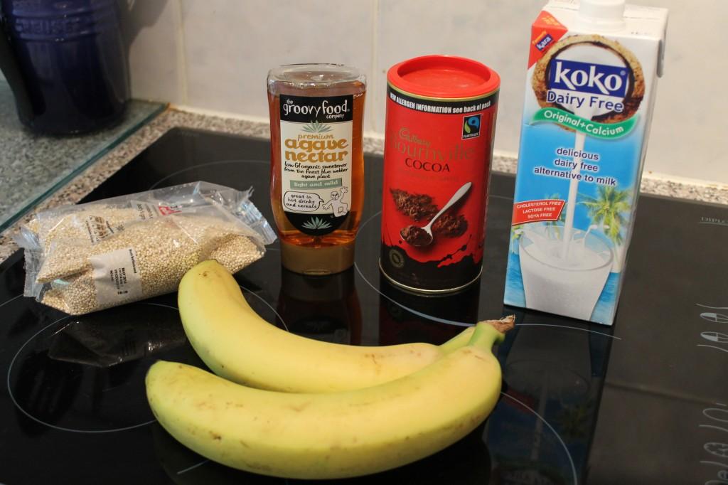 ingredients for breakfast quinoa