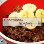 Chocolatey breakfast quinoa