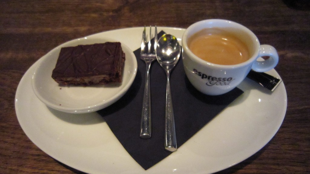 Gluten-free brownie at Woodstone