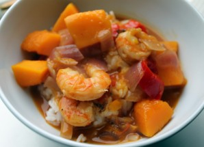 Prawn and pumpkin curry