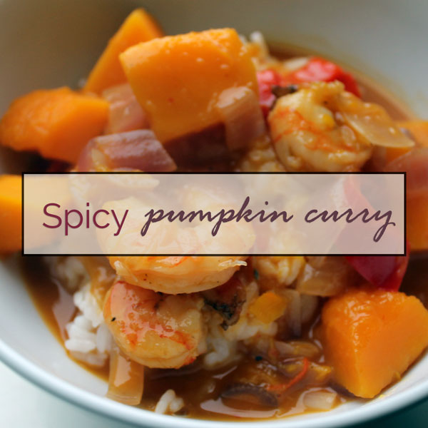 Spicy prawn & pumpkin curry