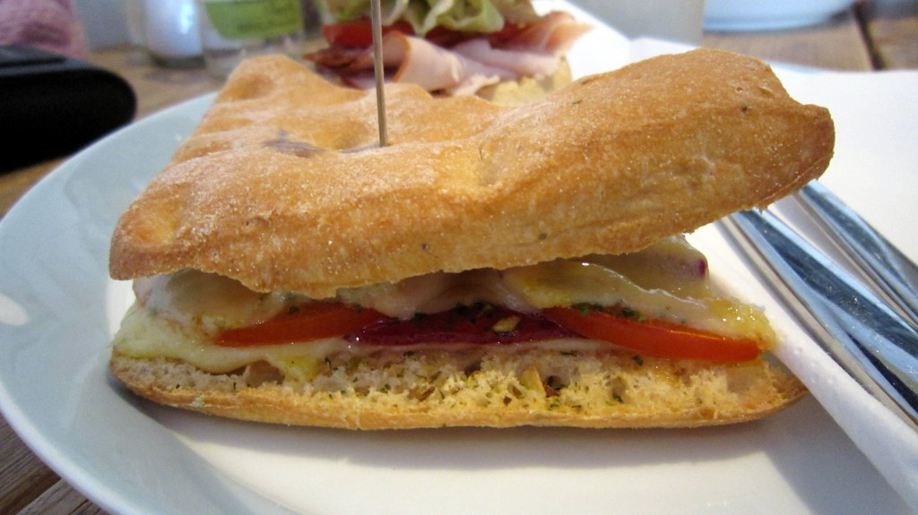 Italian toasty at Piqniq, Amsterdam. Reviewed by The Happy Coeliac