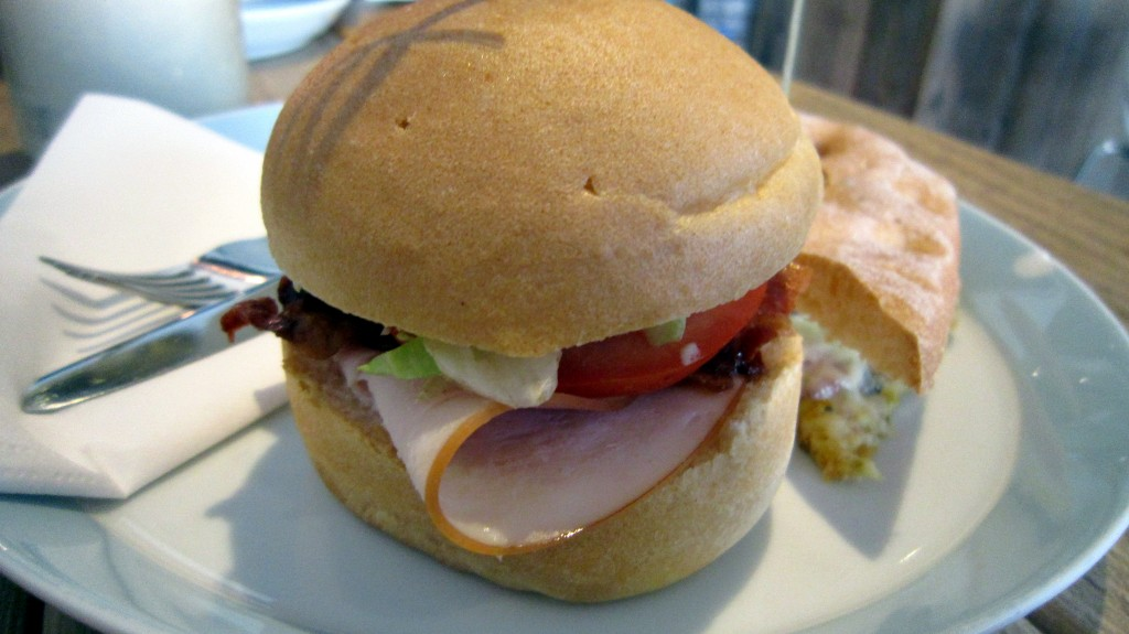 Gluten-free mini sandwich at Piqniq, Amsterdam. Reviewed by The Happy Coeliac