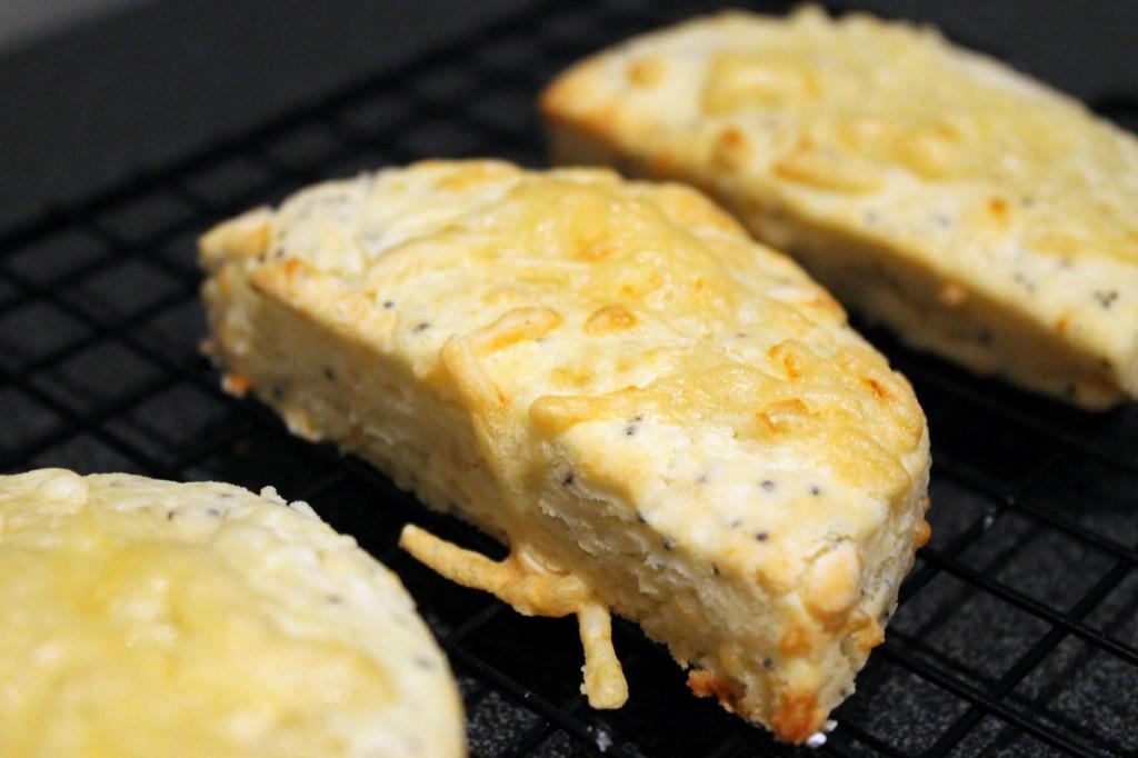 Gluten-free scones close up
