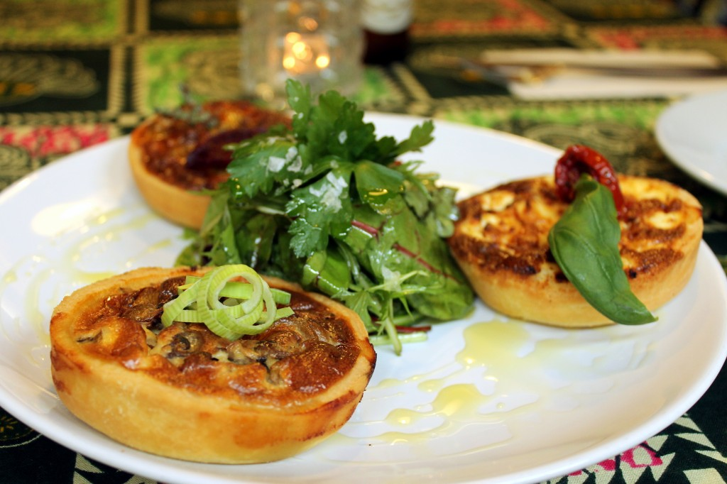 Gluten-free quiches at Vozar's, Brixton
