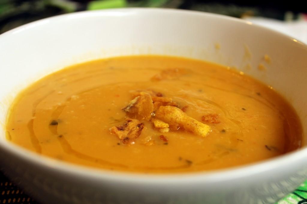 Butternut squash soup at Vozar's gluten-free restaurant, Brixton