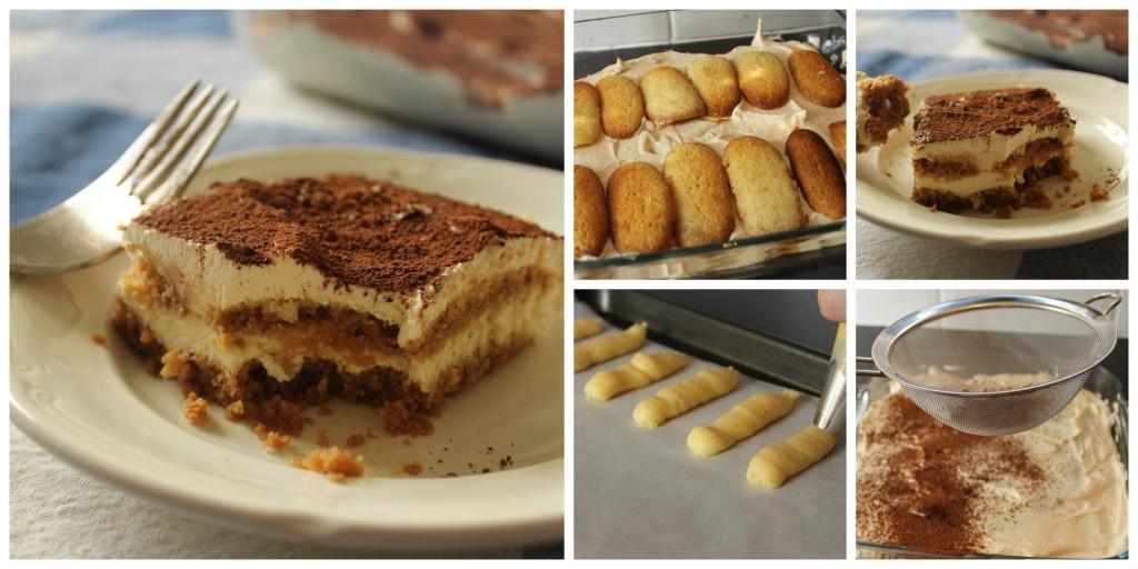 Gluten free tiramisu collage