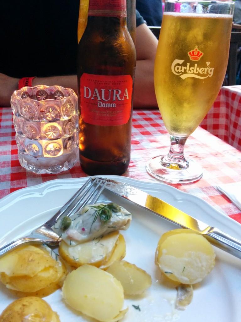 Gluten-free beer at Frk. Barners Kælder, Copenhagen