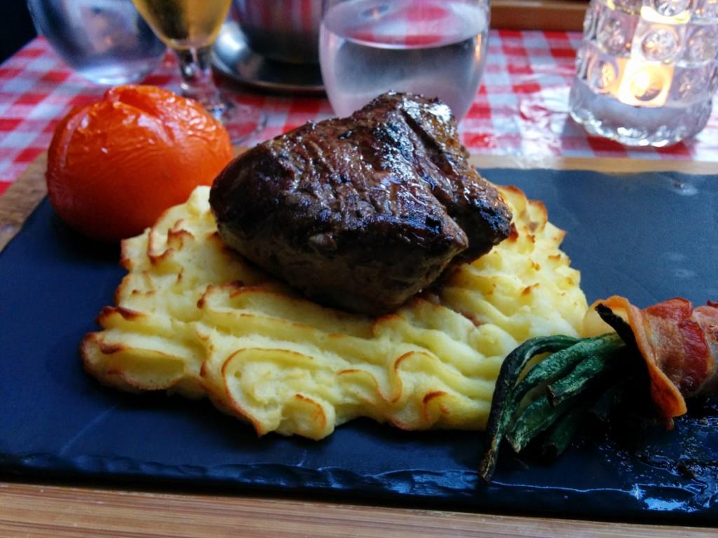 Steak at Frk. Barners Kælder, Copenhagen