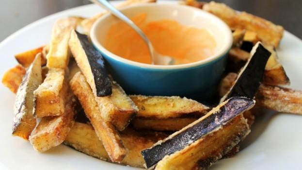 Aubergine (eggplant) fries