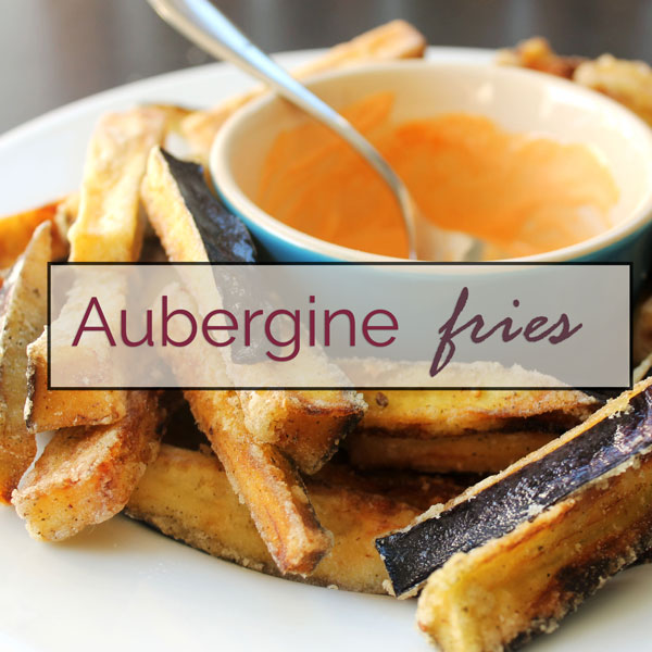 Gluten-free aubergine/eggplant fries