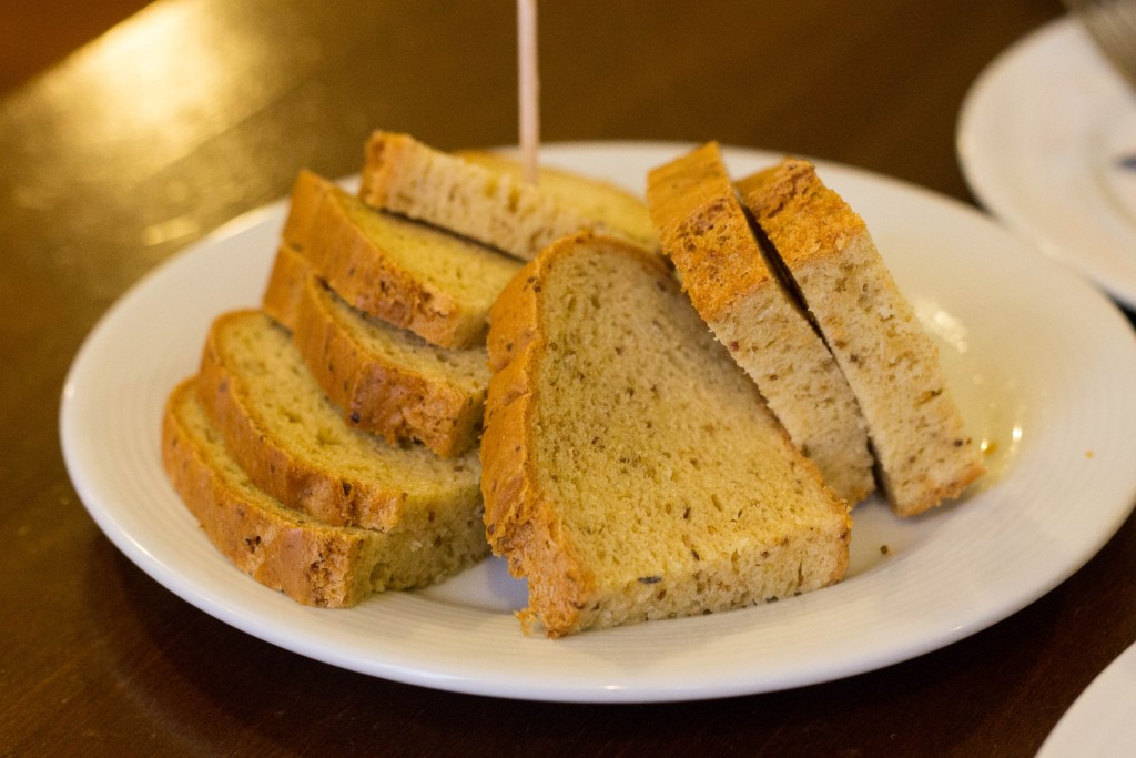 Gluten-free bread at Restaurant U Karla, Prague