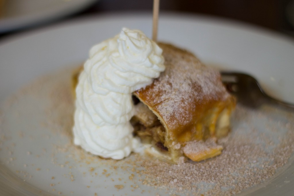 Gluten-free apple strudel at Restaurant  U Karla, Prague