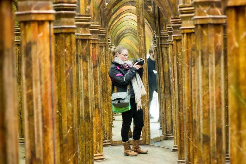 Being my own paparazzi in the mirror maze, Petrin Hill, Prague