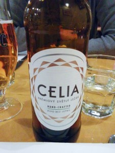 Gluten-free Celia lager at Alriso, Prague