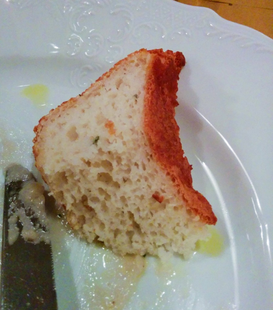 Gluten-free rice bread at Alriso, Prague