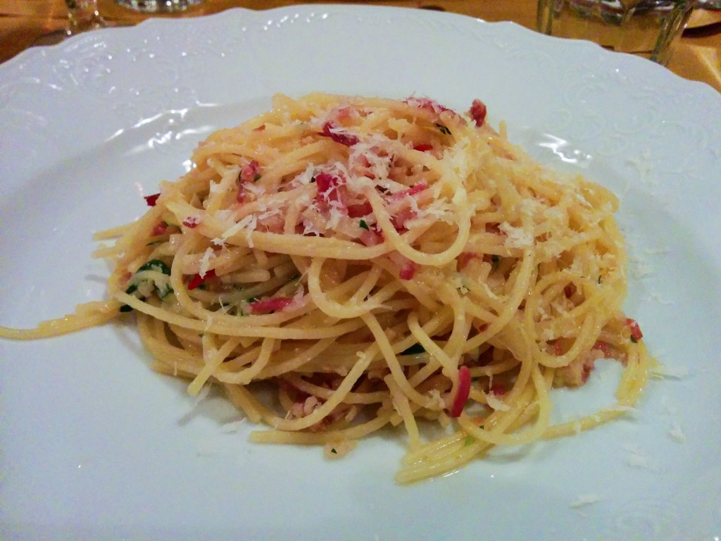 Gluten-free rice spaghetti at Alriso, Prague