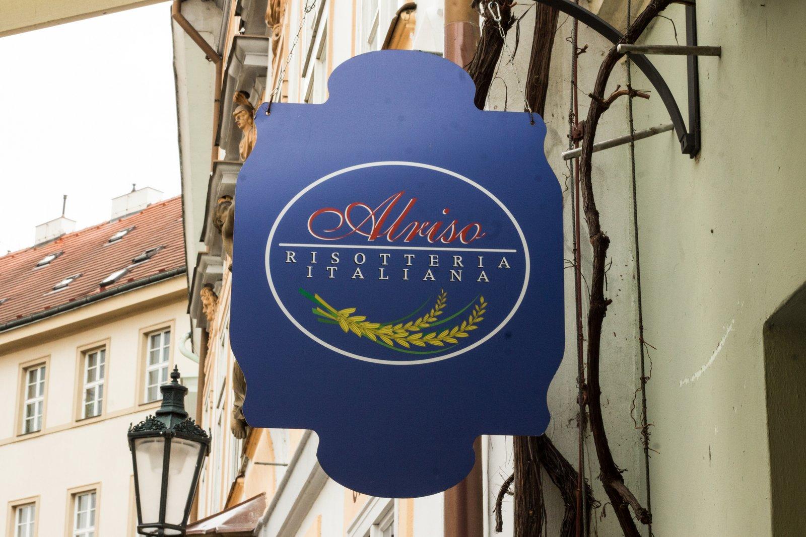 Al Riso sign, Prague