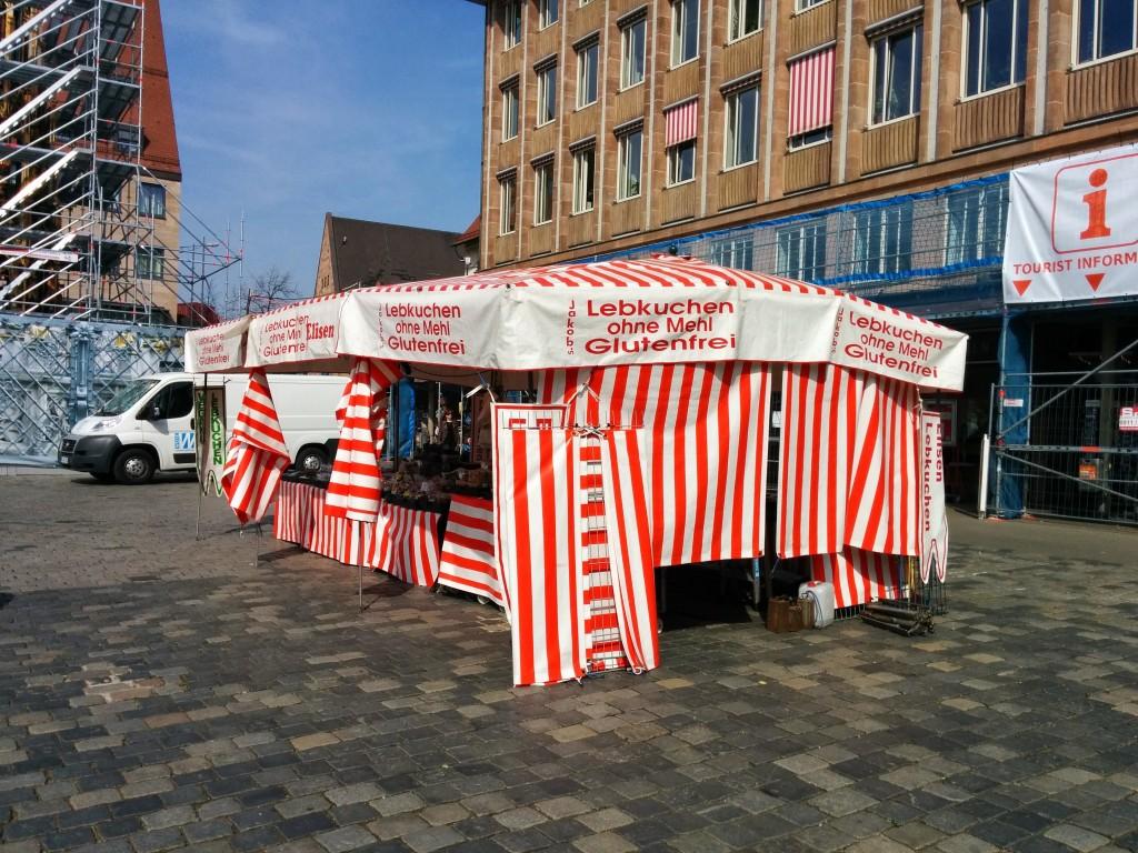 Gluten-free Nuremburger lebkuchen stall in Nuremburg