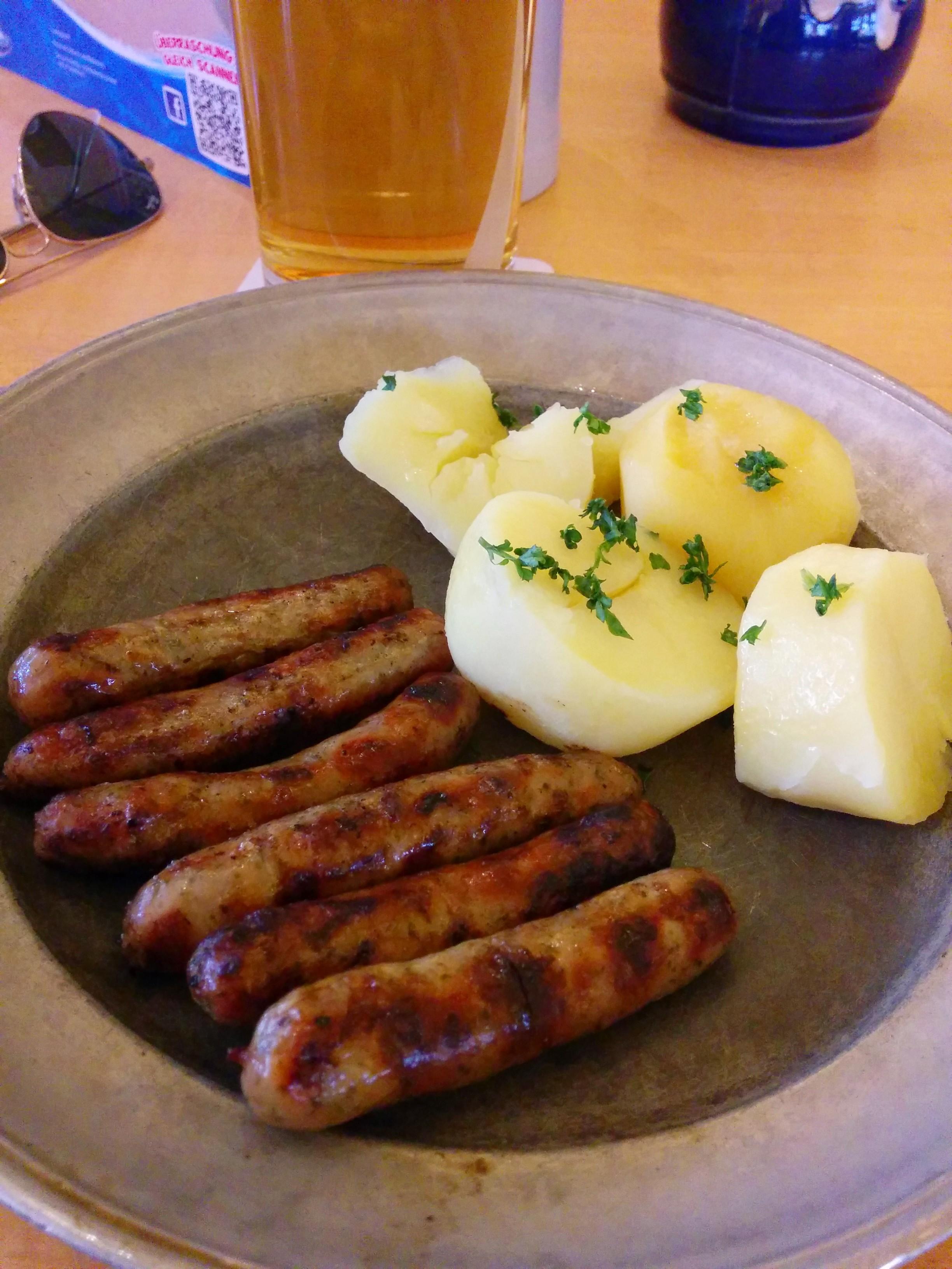 Gluten-free Nuernberger bratwurst
