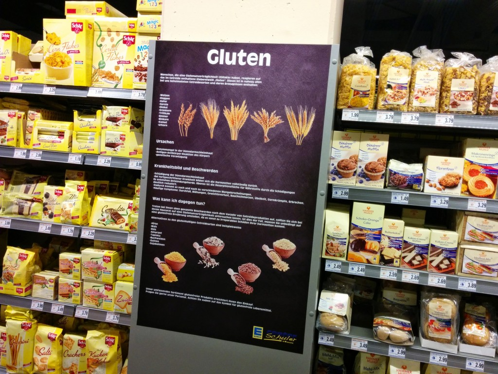 Gluten fact sheet at Edeka
