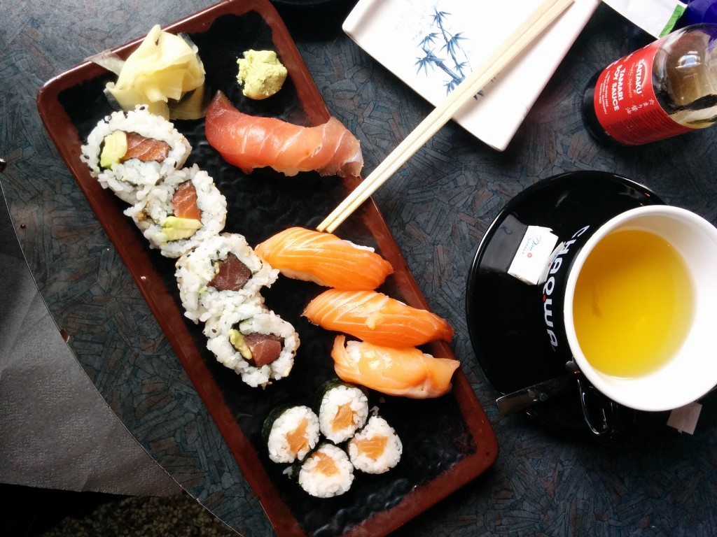 Sushi at Sushibarinn