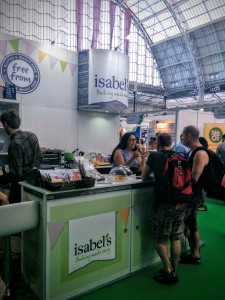 Isabel's Free From stand at the allergy show