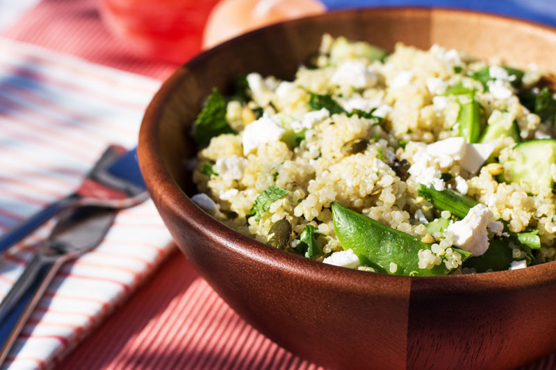 Quinoa Salad with feta and garden herbs