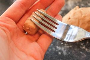 Making chestnut gnocchi without a gnocchi board