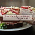 Strawberry & champagne layer cake